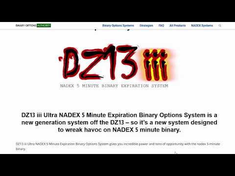 DZ13 iii Ultra NADEX 5 Minute Expiration Binary Options System Review