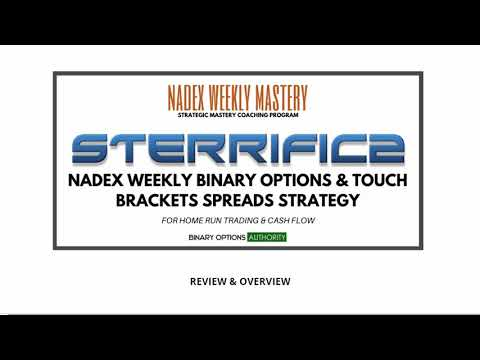 STERRIFIC2  NADEX Weekly Binary Options   Touch Brackets Spreads Strategy Review