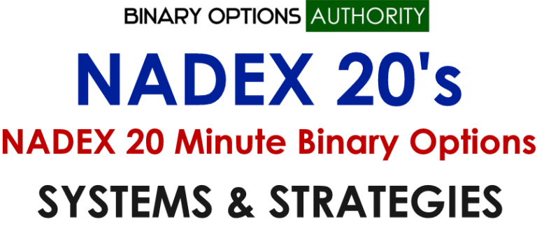 See Our NADEX 20 Minute Binary Options Systems and Strategies