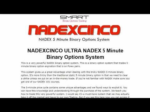 NADEXCINCO ULTRA NADEX 5 Minute Binary Options System Review